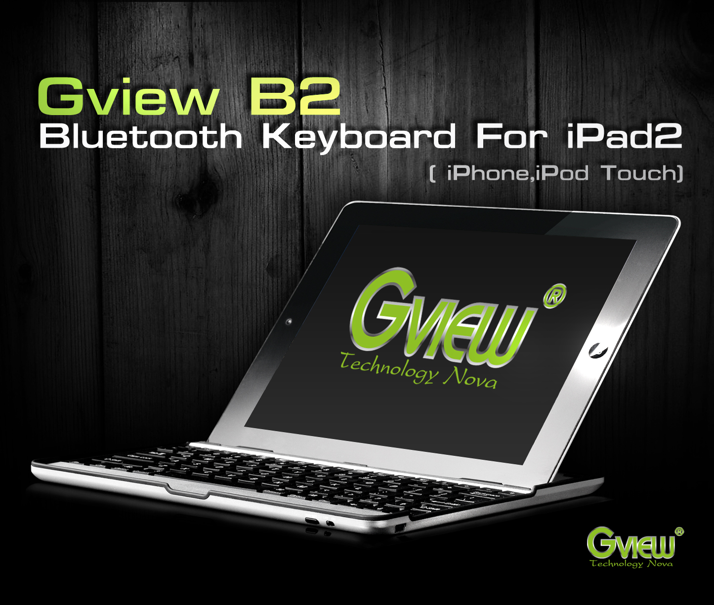 Gview B2 Bluetooth Keyboard for iPad2